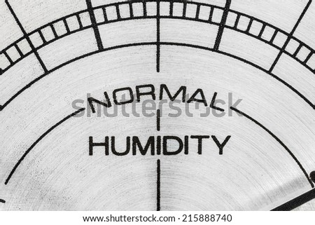 Humidity meter macro close up detail. - stock photo