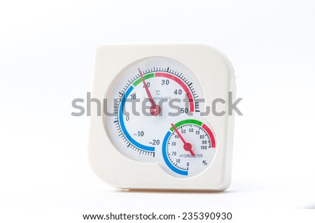 humidity meter with white background - stock photo