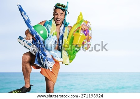 Humor. Summer vacations - stock photo