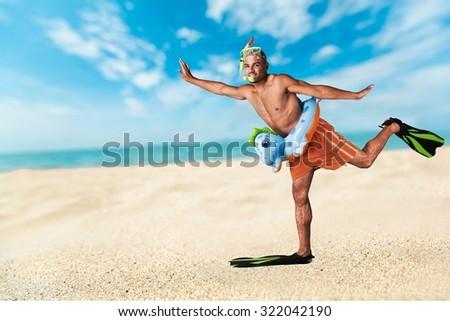 Humor Tourist. - stock photo