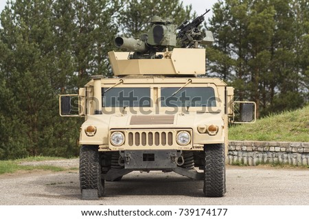 Humvee HMMWV light armored vehicle in polygon
