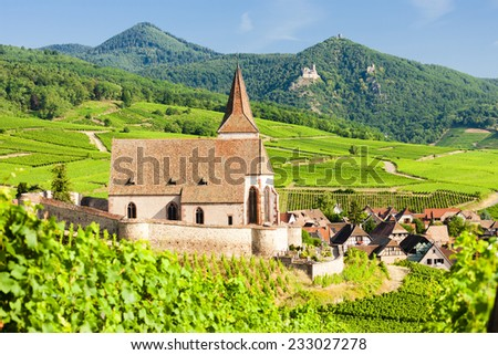 Hunawihr, Alsace, France - stock photo