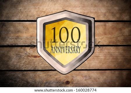 hundred anniversary - stock photo