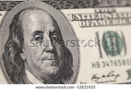 hundred dollar banknote - stock photo