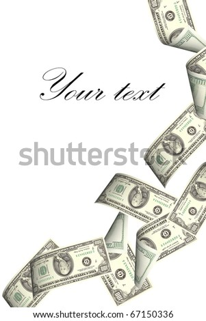 hundred dollar banknotes falling from the sky - stock photo