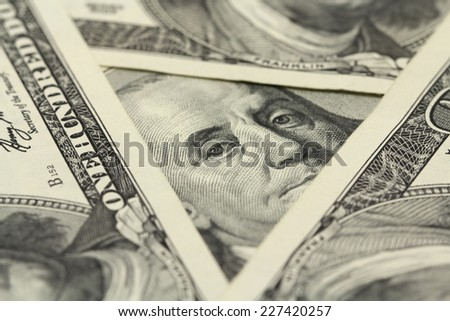 hundred-dollar bill abstract background