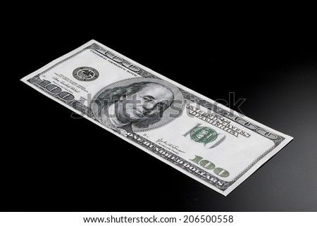 Hundred dollar bill known as a Benjamin. - stock photo