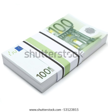 hundred euros - stock photo