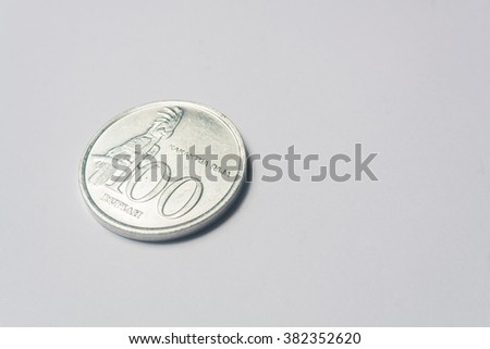 hundred Indonesia coin