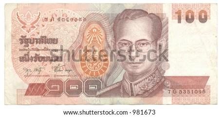 hundred thai baht - stock photo