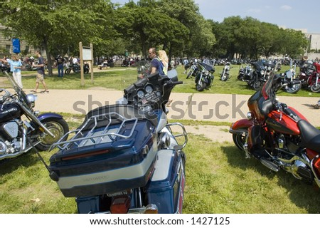 Hundreds of motorcyclists converged on Washington, DC, Memorial Day weekend, 2006