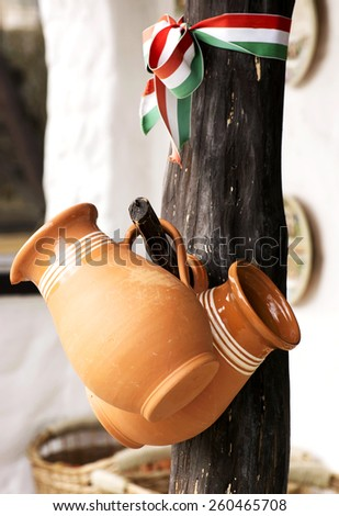 Hungarian ceramic products  - stock photo