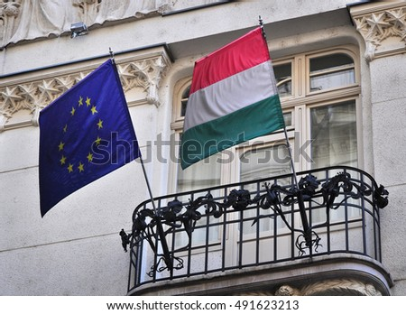 Hungarian EU european flag