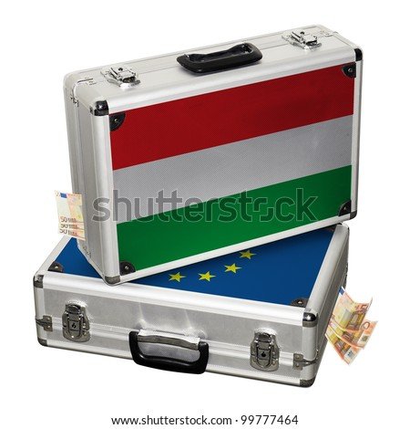 Hungarian financial crisis. Financial assistance. - stock photo