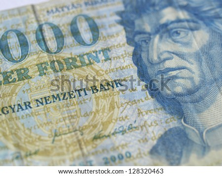 Hungarian Forint (HUF) currency money - banknotes