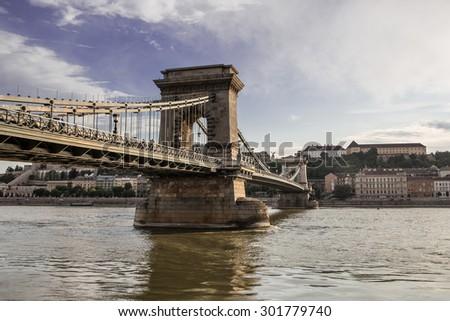 Hungarian Landmarks on the Danube, Budapest - stock photo