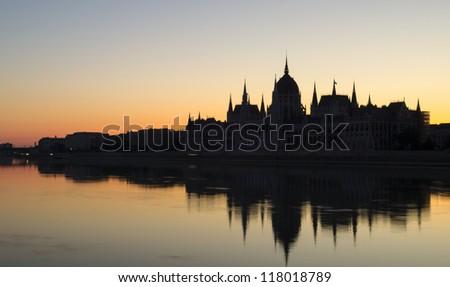 Hungarian Parliament Building at Dawn
