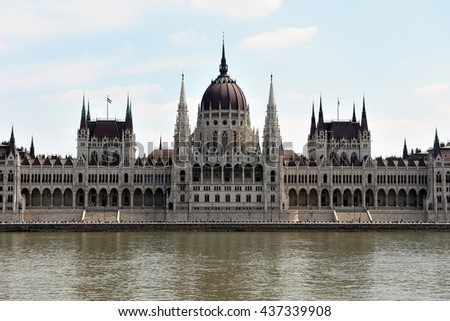 Hungarian Parliament building, Budapest. - stock photo