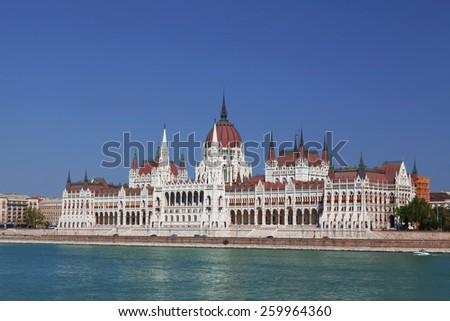 Hungarian Parliament Building. Budapest, Hungary - stock photo