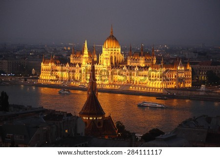 Hungarian Parliament Building in Budapest,3 June 2015,Budapest Hungary