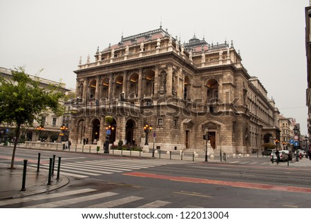 Hungarian State Opera House in Budapest - stock photo