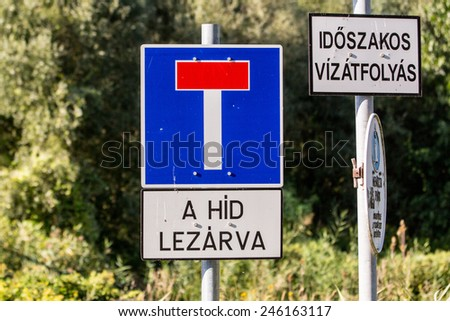 Hungarian Traffic Signs