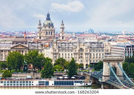 Hungary, Budapest, view of Sacred Stephane's basilica - stock photo