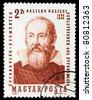 HUNGARY - CIRCA 1964 - Galileo Galilei Stamp, Hungary, Circa 1964 - stock photo