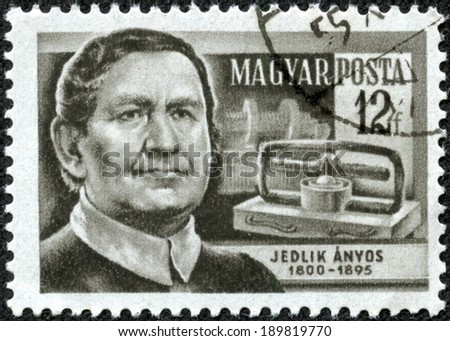 HUNGARY - CIRCA 1954: stamp printed by Hungary, shows Anyos Jedlik, circa 1954
