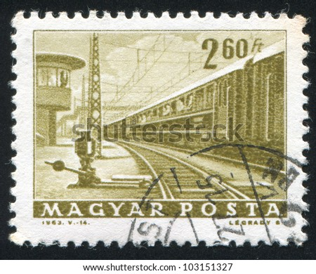 HUNGARY  CIRCA 1963: stamp printed by Hungary, shows diesel locomotive,  circa 1963