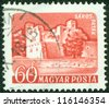 HUNGARY - CIRCA 1960: stamp printed by Hungary, shows Saros-Patak Castle, circa 1960 - stock photo