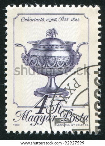 HUNGARY - CIRCA 1988: stamp printed by Hungary, shows sugar bowl, circa 1988