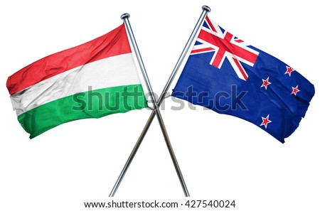 Hungary flag  combined with new zealand flag