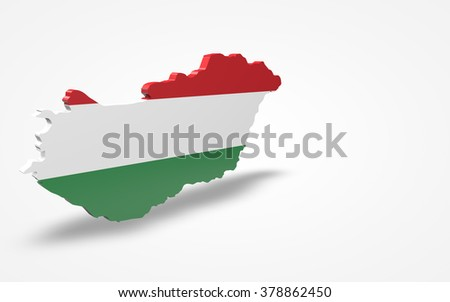 Hungary flag 3d perspective view isolated