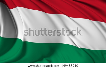 Hungary flag HI-RES collection  - stock photo