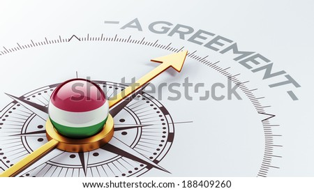 Hungary High Resolution Agreement Concept - stock photo