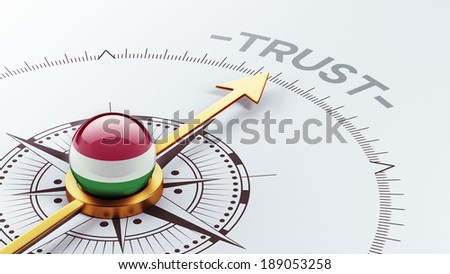 Hungary High Resolution Trust Concept - stock photo