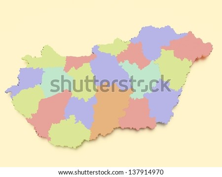 Hungary Map - stock photo
