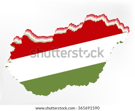 Hungary map background