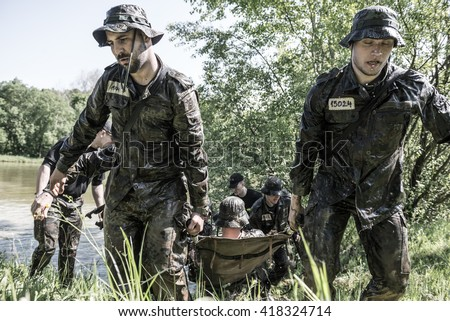 Hungary, Orfu - May 3-8: Elite Challenge is a program designed both for civilians and professionals who wish to try out what it feels like to get through Special Forces selection.