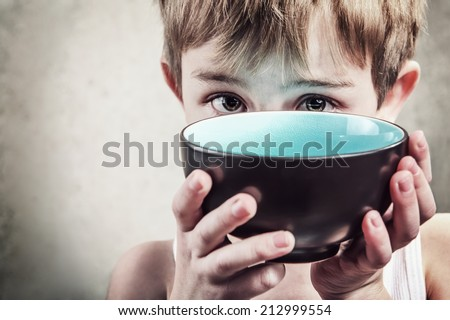 Hunger. Shallow focus - stock photo