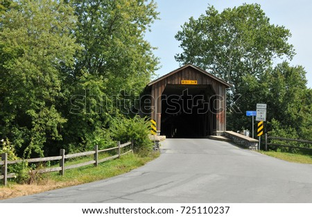 Hunseckers Mill Covered Bridge in Lancaster County, PA
