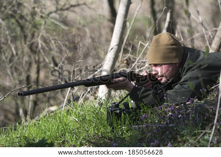Hunter  - stock photo