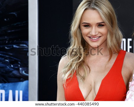 Hunter King at the Los Angeles premiere of 'Independence Day: Resurgence' held at the TCL Chinese Theatre in Hollywood, USA on June 20, 2016. - stock photo