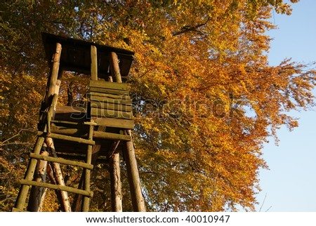 Hunting lookout - stock photo