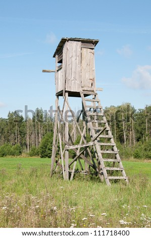hunting pulpit - stock photo