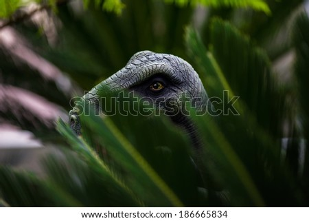 Hunting T-rex - stock photo