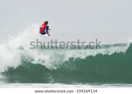 HUNTINGTON BEACH, CA - AUGUST 2: Kai Otton competes in the Nike US Open of Surfing in Huntington Beach, CA on August 2, 2012
