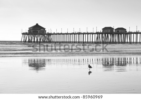 Huntington Beach Pier - stock photo