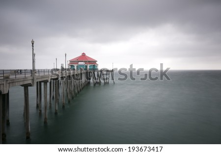 Huntington Beach Pier With Room For Text